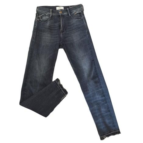 Pantalon slim, cigarette LE TEMPS DES CERISES Bleu, bleu marine, bleu turquoise