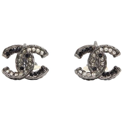 Boucles d'oreille CHANEL Argenté, acier