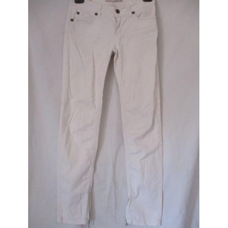 Pantalon droit LIU JO Blanc, blanc cassé, écru