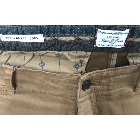 Pantalon droit JACK & JONES Doré, bronze, cuivre