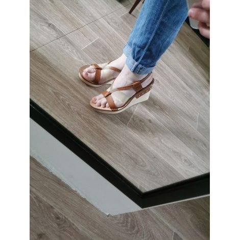 Sandales compensées MARITHÉ ET FRANÇOIS GIRBAUD Beige, camel