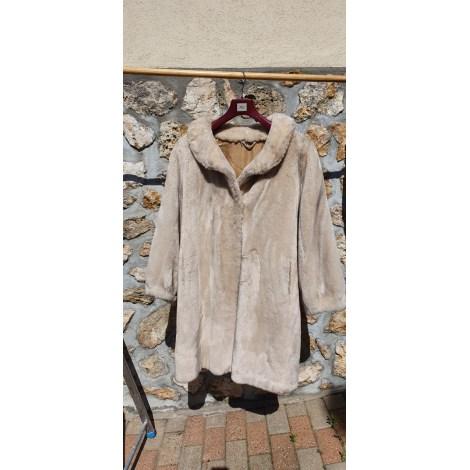 Manteau en fourrure MARQUE INCONNUE Blanc, blanc cassé, écru