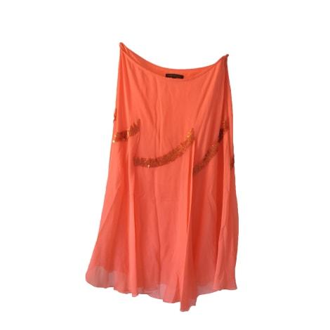 Jupe mi-longue APOSTROPHE Orange