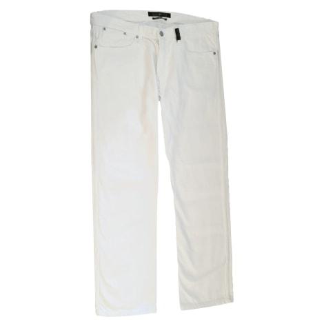 Jeans droit STONE ISLAND Blanc, blanc cassé, écru