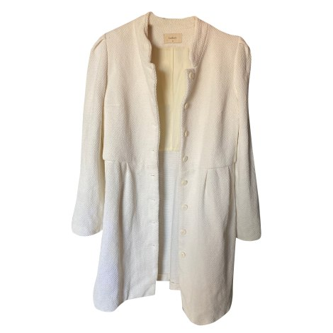 Manteau BA&SH Blanc, blanc cassé, écru
