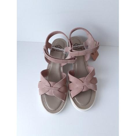Sandales compensées PALLADIUM Rose, fuschia, vieux rose