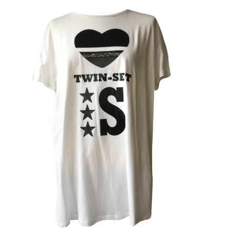 Top, tee-shirt TWIN-SET SIMONA BARBIERI Blanc, blanc cassé, écru