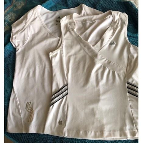 Top, tee-shirt ADIDAS Blanc, blanc cassé, écru