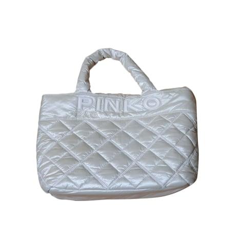 Sac à main en tissu PINKO blanc cassé