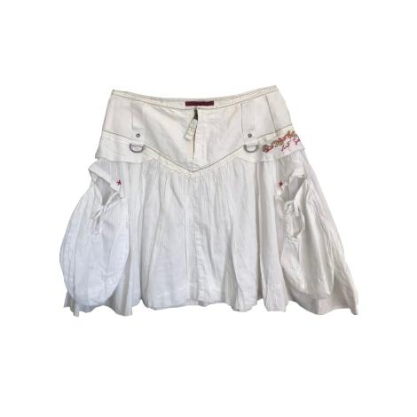 Jupe courte MARITHÉ ET FRANÇOIS GIRBAUD Blanc, blanc cassé, écru