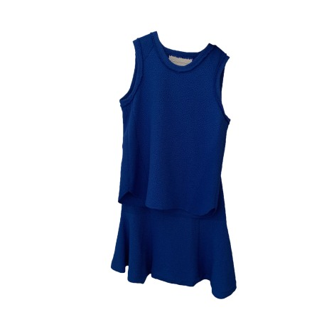 Tailleur jupe SANDRO Bleu, bleu marine, bleu turquoise