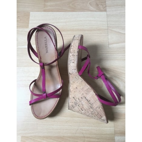 Sandales compensées MARELLA Rose, fuschia, vieux rose