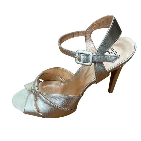 Sandales à talons ANN TUIL Doré, bronze, cuivre