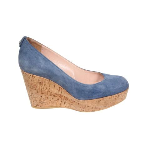 Escarpins compensés STUART WEITZMAN Bleu, bleu marine, bleu turquoise