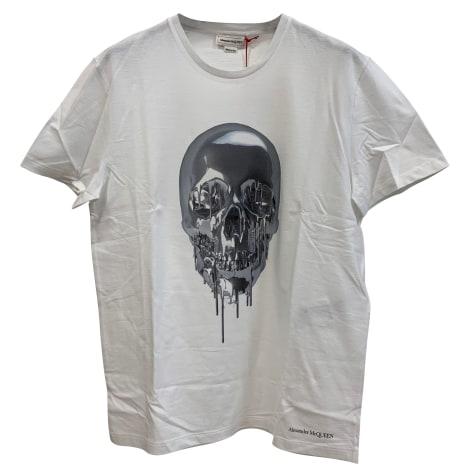 Tee-shirt ALEXANDER MCQUEEN Blanc, blanc cassé, écru