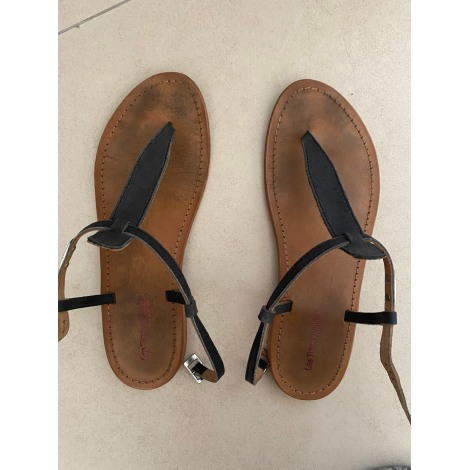 Sandales plates  LES TROPÉZIENNES PAR M. BELARBI Noir