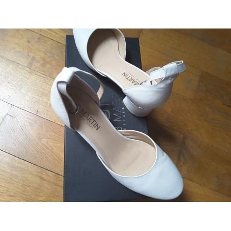 Sandales à talons JB MARTIN Blanc, blanc cassé, écru