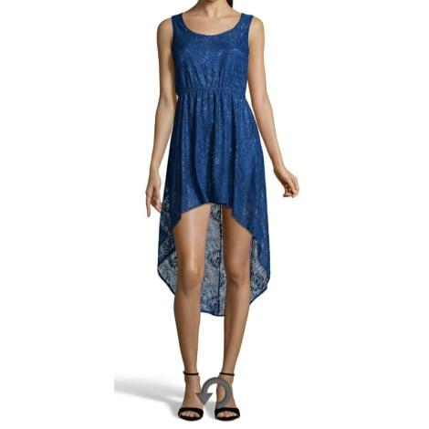 Robe mi-longue YUMI Bleu, bleu marine, bleu turquoise