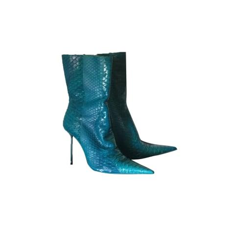 Bottes à talons GIANMARCO LORENZI Bleu, bleu marine, bleu turquoise