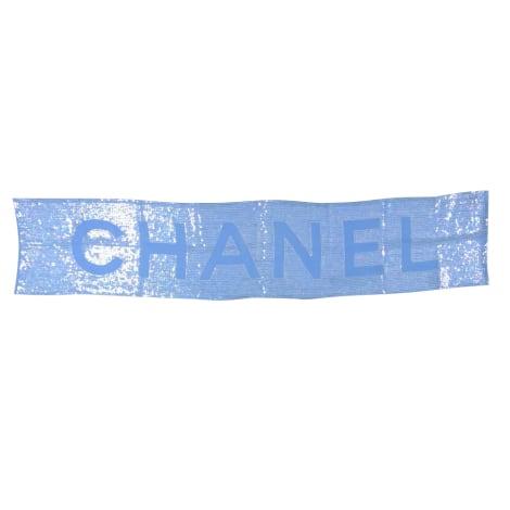 Echarpe CHANEL Bleu, bleu marine, bleu turquoise