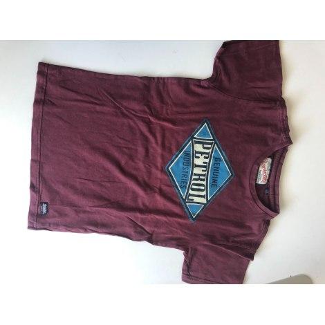 Tee-shirt PETROL INDUSTRIES Rouge, bordeaux
