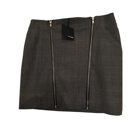 Jupe courte THE KOOPLES Gris, anthracite