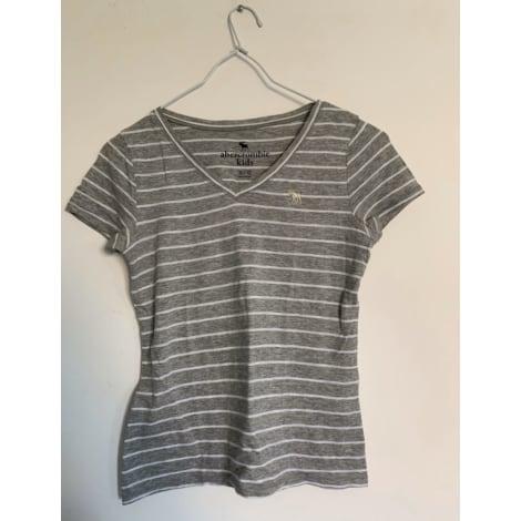 Top, Tee-shirt ABERCROMBIE & FITCH Argenté, acier