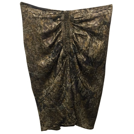 Mini Skirt ISABEL MARANT Golden, bronze, copper