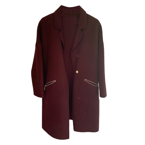 Manteau MAJE Rouge, bordeaux