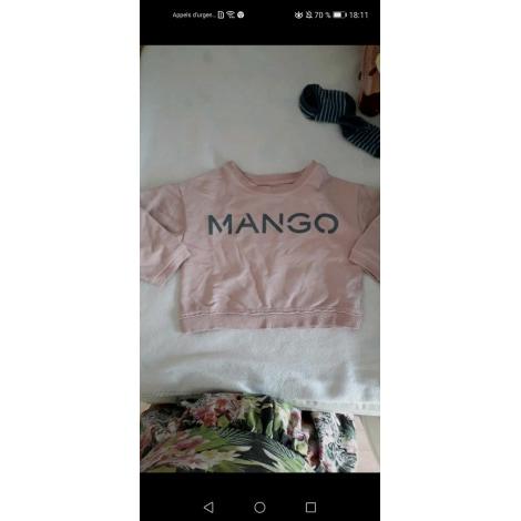 Top, Tee-shirt MANGO Rose, fuschia, vieux rose