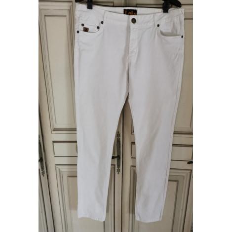 Jeans slim LOIS Blanc, blanc cassé, écru