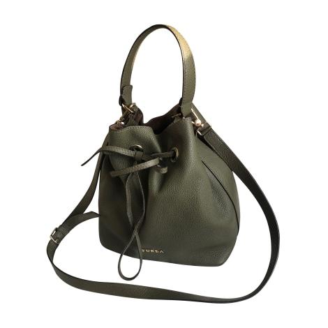 Leather Shoulder Bag FURLA Khaki