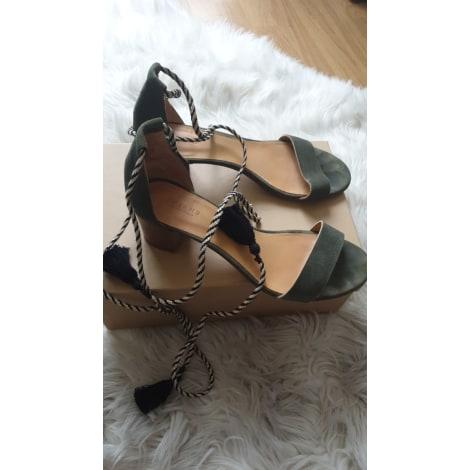 Sandales à talons SÉZANE Kaki