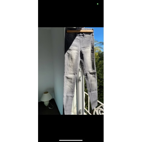 Jeans slim CAMAIEU Gris, anthracite