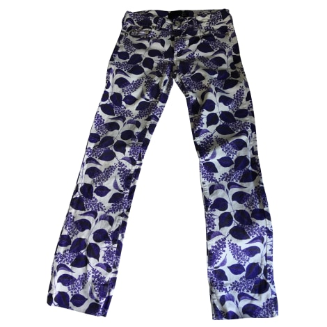 Pantalon slim, cigarette JUST CAVALLI Violet, mauve, lavande