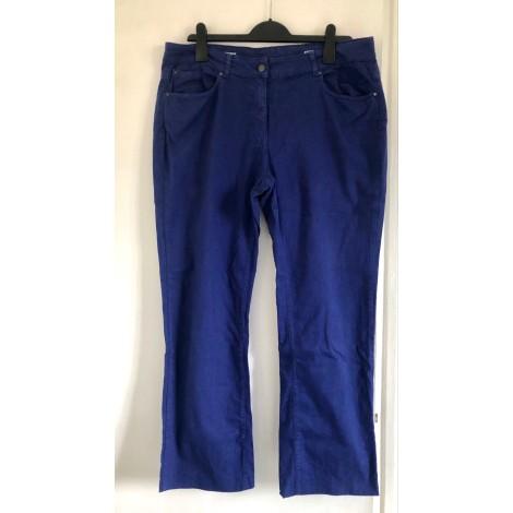 Pantalon droit MONOPRIX Bleu, bleu marine, bleu turquoise