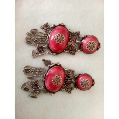 Boucles d'oreille TARATATA Rose, fuschia, vieux rose