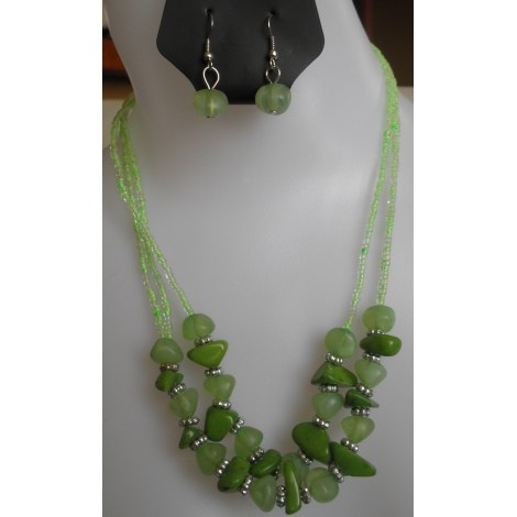 Parure bijoux MUSACRÉATION Vert