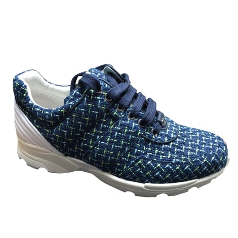 Sneakers CHANEL Blue, navy, turquoise