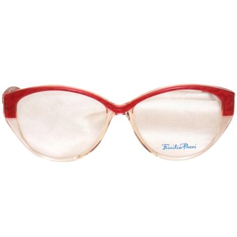Monture de lunettes EMILIO PUCCI Rosso e Trasparente