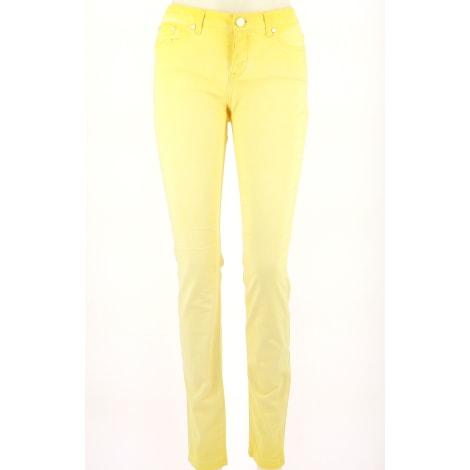 Jeans droit SUD EXPRESS Jaune