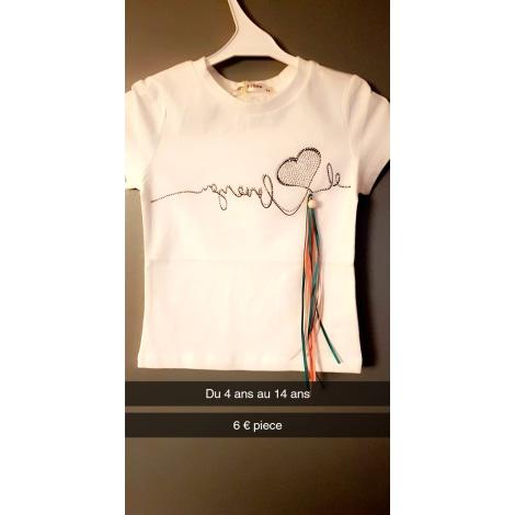 Top, Tee-shirt SANS MARQUE Blanc, blanc cassé, écru