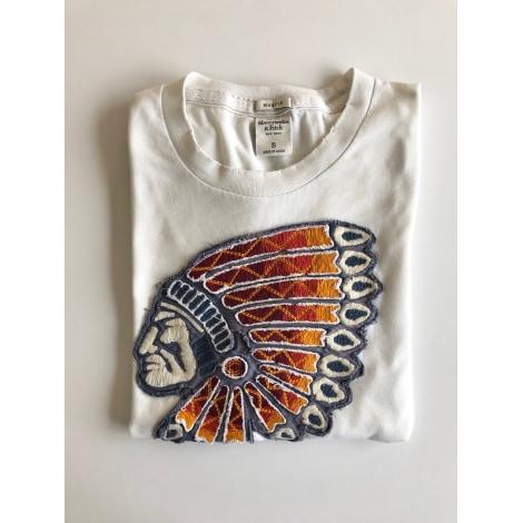 Tee-shirt ABERCROMBIE & FITCH Blanc, blanc cassé, écru
