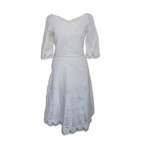 Robe mi-longue ARMAND VENTILO Blanc, blanc cassé, écru