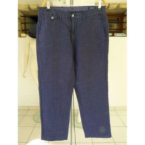 Pantalon droit POLO RALPH LAUREN Bleu, bleu marine, bleu turquoise