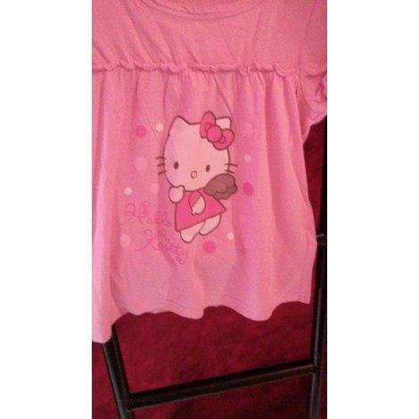 Top, Tee-shirt HELLO KITTY rose