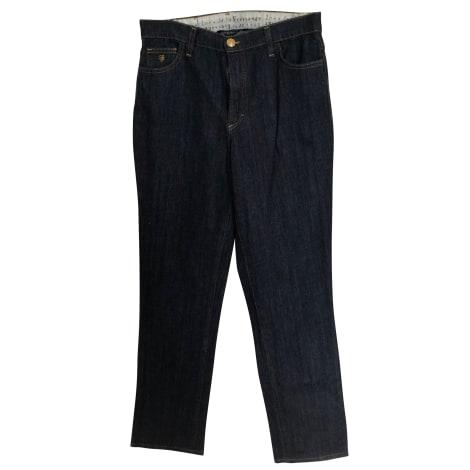 Jeans droit INÈS DE LA FRESSANGE Bleu, bleu marine, bleu turquoise