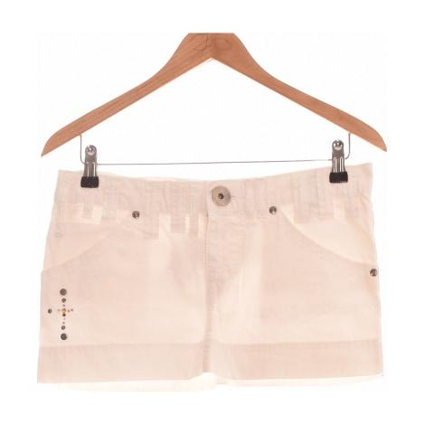 Jupe courte MISS SIXTY Blanc, blanc cassé, écru
