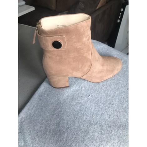 Bottines & low boots à talons NINE WEST Beige, camel