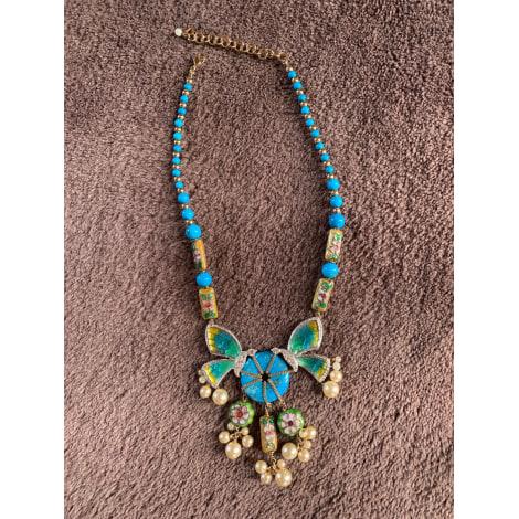 Collier DIOR Bleu, bleu marine, bleu turquoise